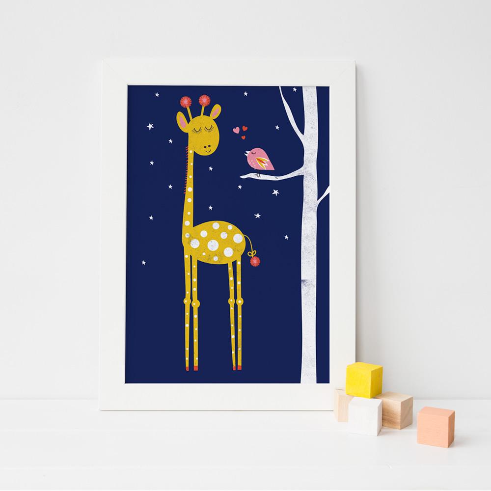 Nursery Art Print Giraffe