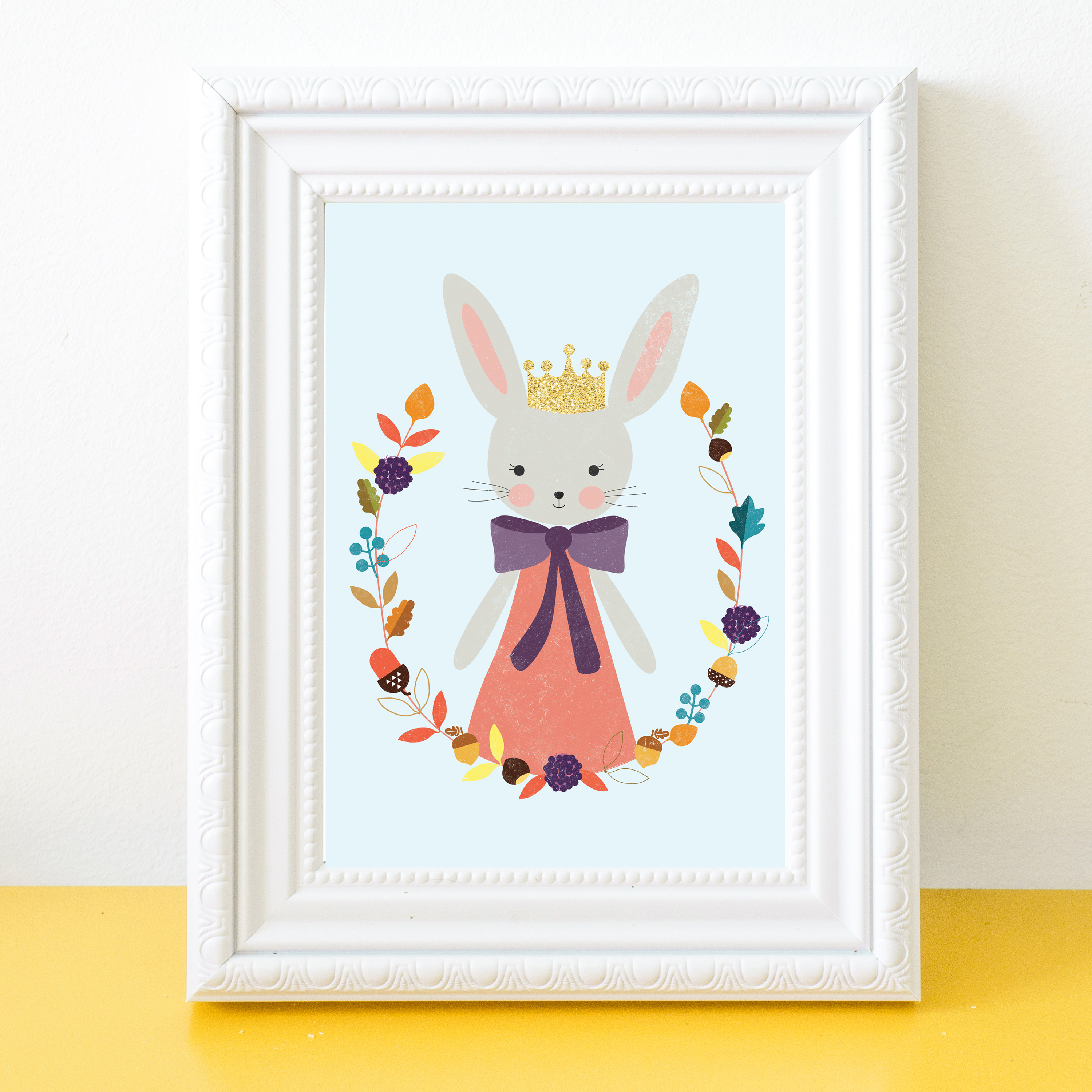 Art Print for kids Bunny Rabbit